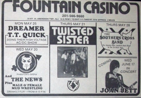 The Fountain Casino rock club advertiesment