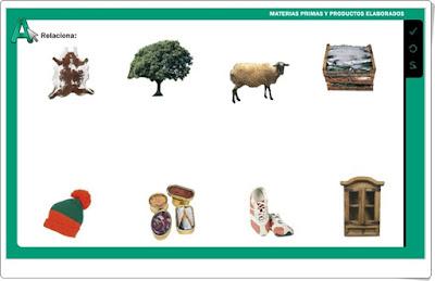 Materias primas Editorial La Galera 2º de Primaria