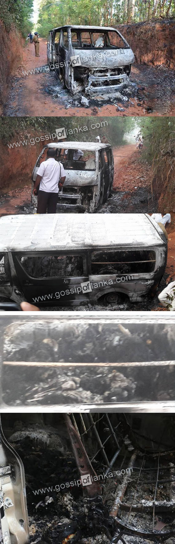 Five burnt bodies found in Dankotuwa - Updates