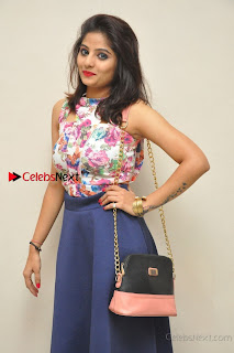 Kannada Actress Mahi Rajput Pos in Floral Printed Blouse at Premam Short Film Preview Press Meet  0015.jpg