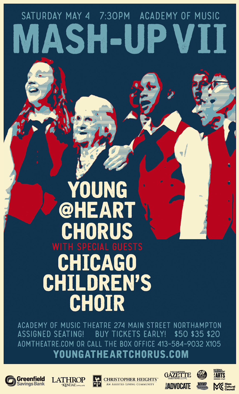 c1a956157c7b5 WHAT: Mash-Up VII: The Young@Heart Chorus (Y@H) and Chicago Children's  Choir (CCC) WHEN: Saturday, May 4 @ 7:30PM WHERE: Academy of Music Theatre,  ...