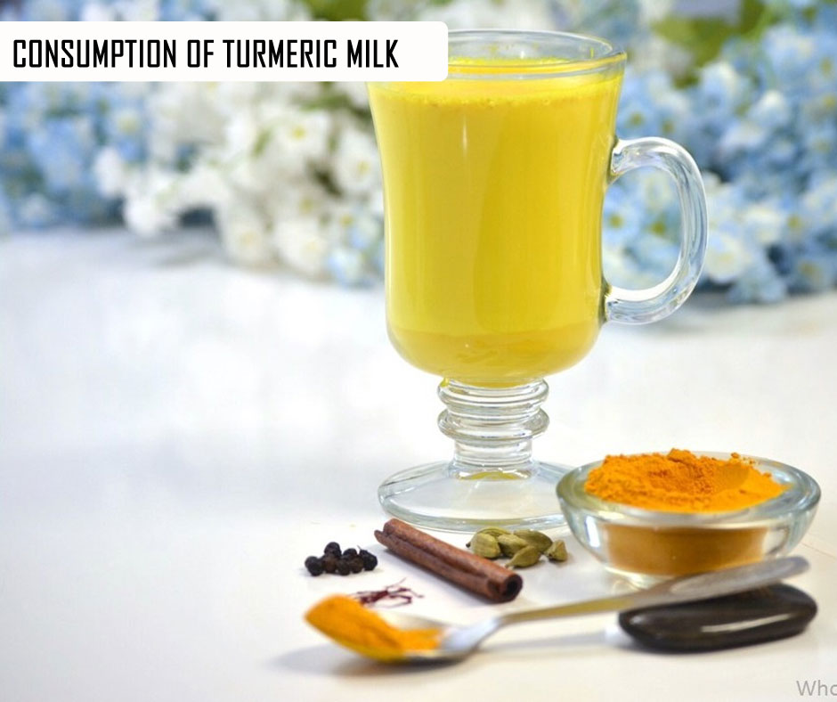 Consumption of Turmeric Milk