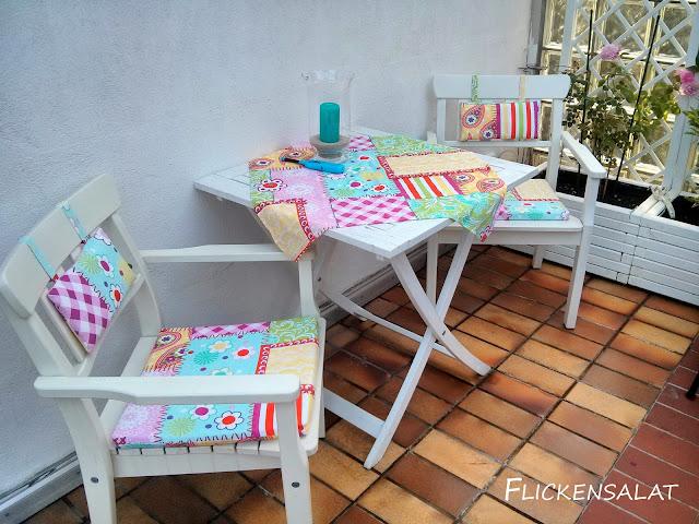 flickensalat bunte stoffe f r den balkon und das enkelchen. Black Bedroom Furniture Sets. Home Design Ideas