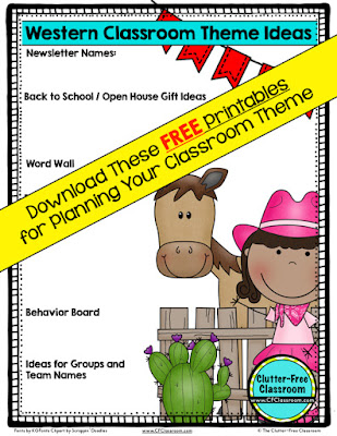 Are you planning a western themed classroom or thematic unit? This blog post provides great decoration tips and ideas for the best western theme yet! It has photos, ideas, supplies & printable classroom decor to will make set up easy and affordable. You can create a western theme on a budget!