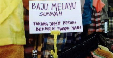 Trik Penjual 'Baju Melayu Sunnah' Ini Bikin Geleng Geleng Kepala