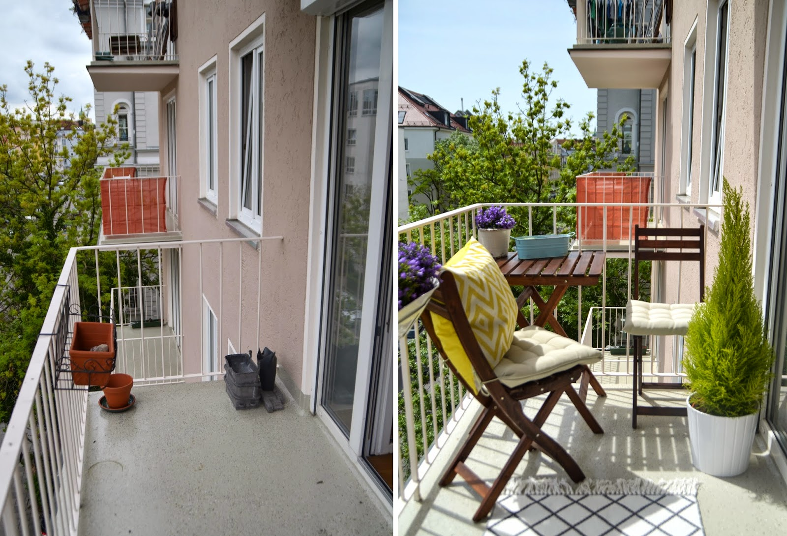 small apartment balcony make over before after