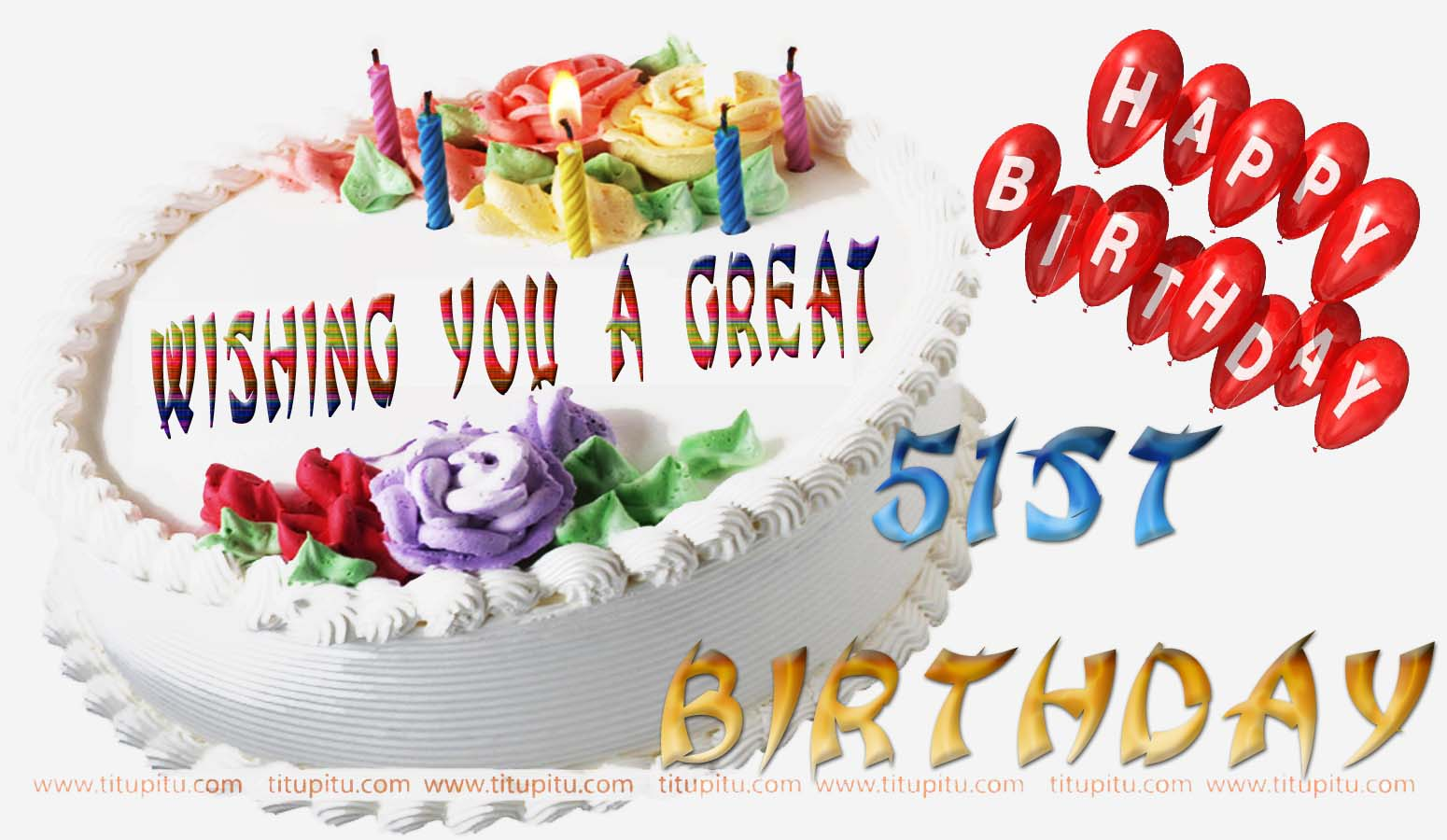 51st Birthday Wishes Message And Wallpaper For Everyone