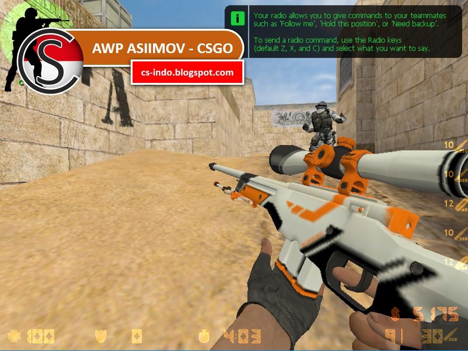 Awp asiimov csgo mod weapon cs counter strike indonesia download game mod skin other - Awp asiimov cs 1 6 ...