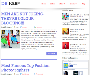 Dekeep Blogger Template