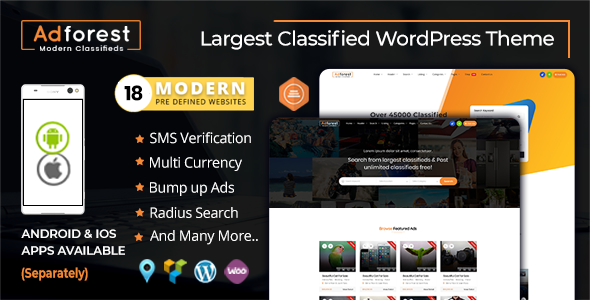 AdForest - Classified Ads WordPress Themes