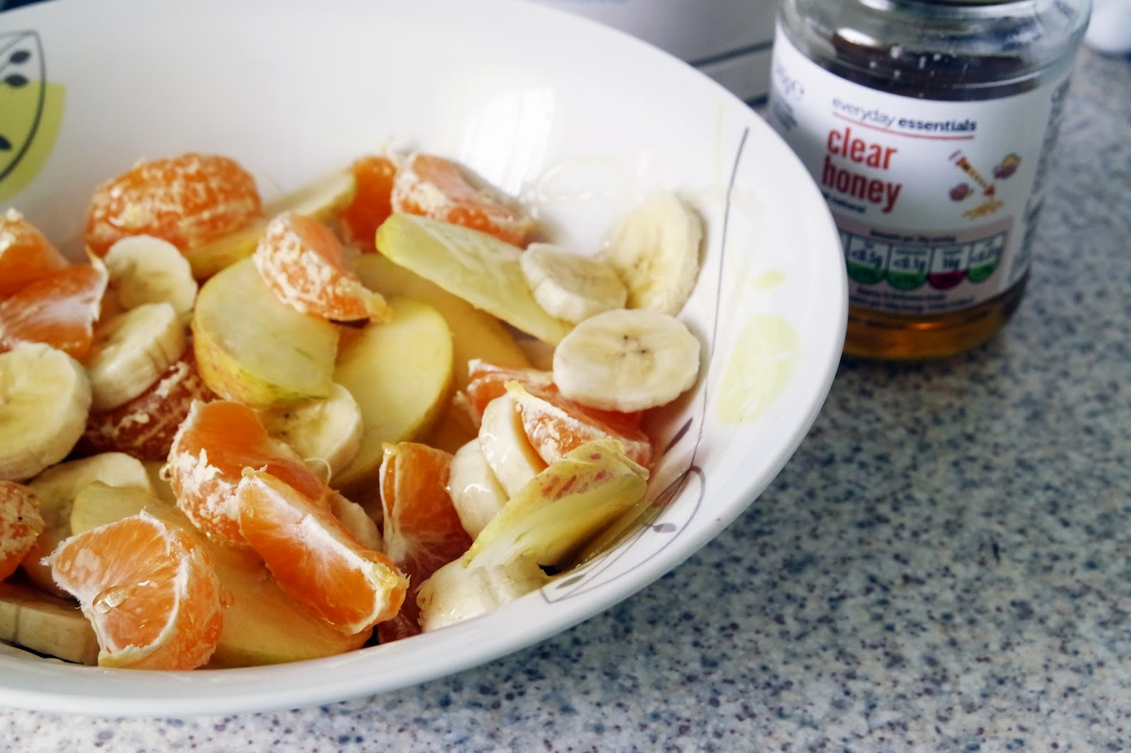Tashika Bailey | Apple, Banana and Orange Fruit Salad