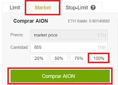 Comprar AION Binance y Coinbase fácil Guía Español