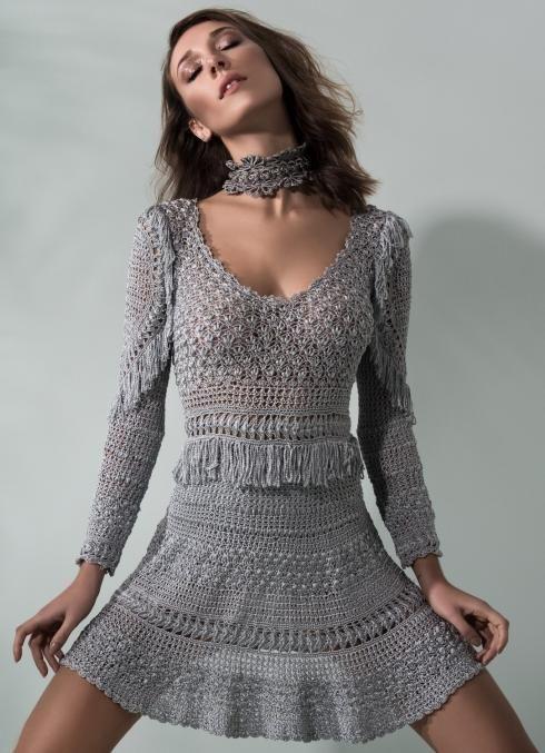 sukienka szydełkiem