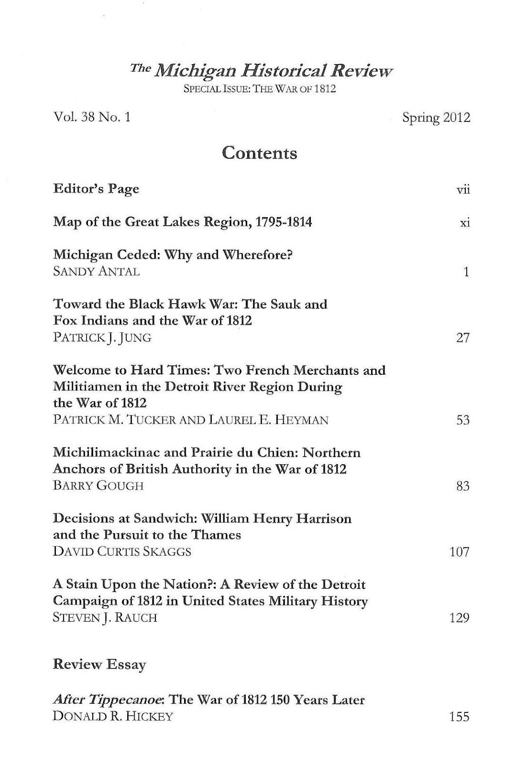 clarke historical library news and notes michigan historical review