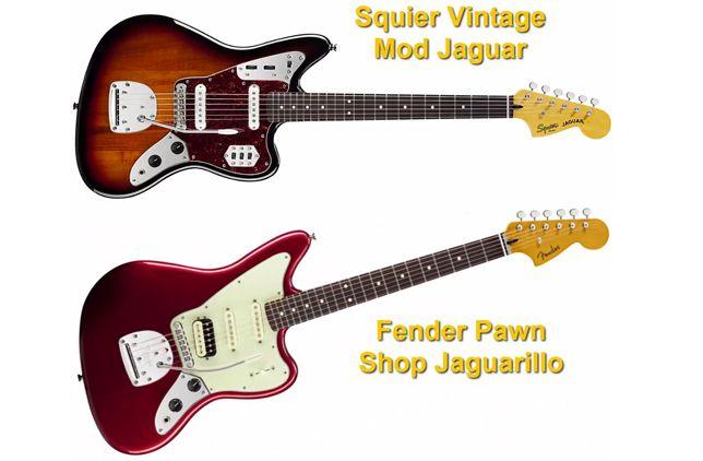 Squier Vintage Mod Jaguar y Fender Pawn Shop Jaguarillo
