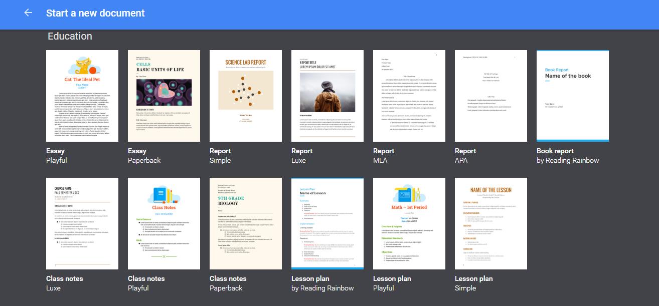 google docs templates planeta e learning