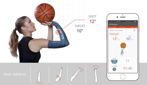 L'application SOLID shot fait des retours au joueur pour corriger leur geste de shoot