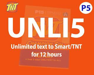 TNT UNLI 5 Promo