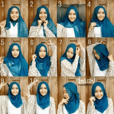 Tutorial hijab paris segi empat simple terbaru by Ria Ricis