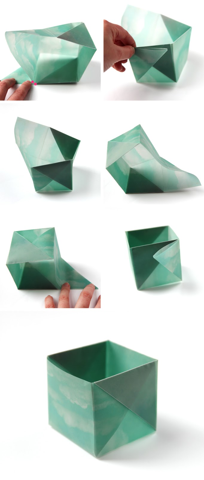Origami Pen Stand Instructions