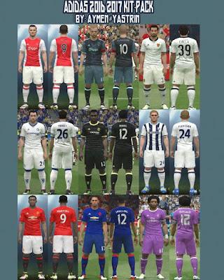 PES 2016 Adidas 2016-17 KitPack V3