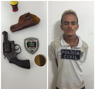 Preso acusado de realizar assaltos em Cuité e tentativa de assassinato em Picuí