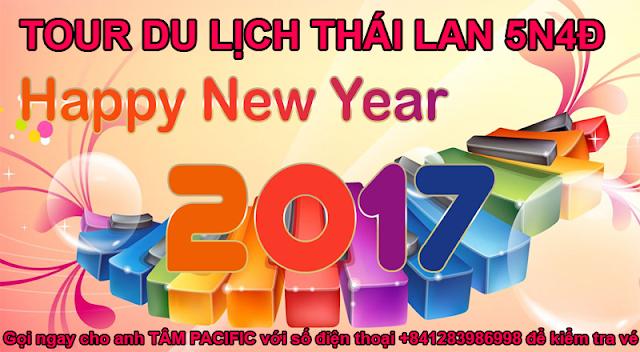 Chùm tour du lịch Thái Lan giá rẻ 2017 trong tháng 1 năm 2017 Tâm Pacific