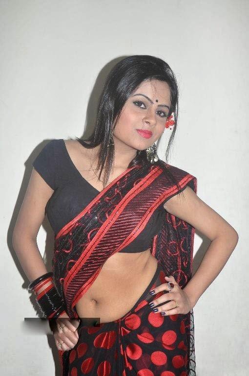 Tamil Busty Aunty Real House Wife Padma Sexy Saree Pallu -1608