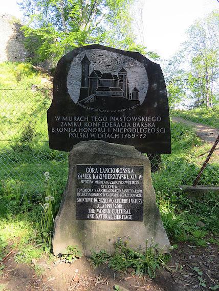 Obelisk na Lanckorońskiej Górze.