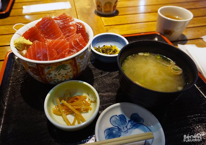 Menu kaisendon : bol de riz au thon rouge, Nagasaki