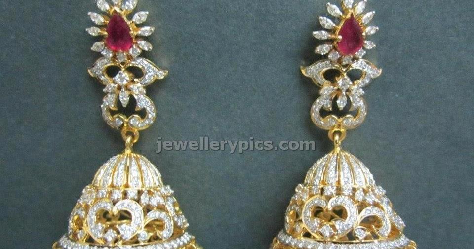 Beautiful Uncut Diamond Jhumka Buttalu Designs By