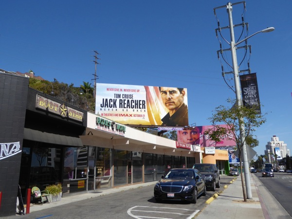 Jack Reacher Never Go Back billboard