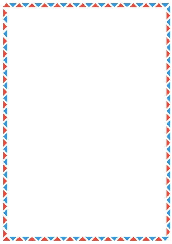 caratula para cuadernos con margenes de triangulos