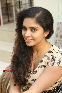 Telugu Actress Karunya Chowdary Stills in Short Dress at ATM Not Working Press Meet  0258.jpg
