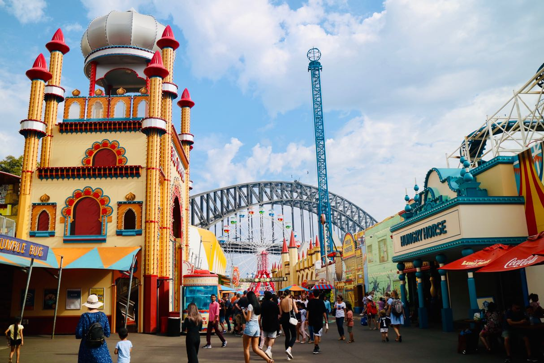 Green Gourmet Giraffe: Luna Park, Sydney  Luna