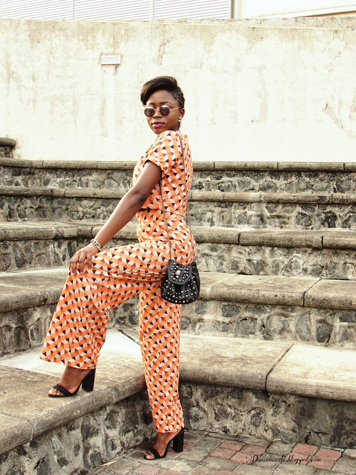 Ankara, African print, crop top, coordinates, flared trousers