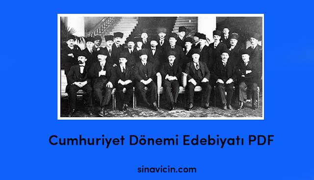 Cumhuriyet Dönemi Edebiyatı PDF