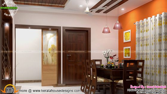 Dining room - Kerala apartment interior