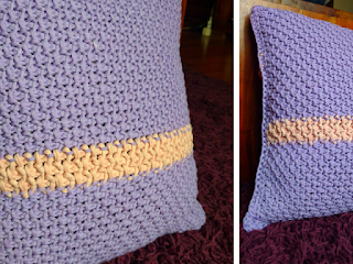 Honeycomb Tunisian crochet Pillowcase