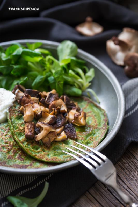 gesunde Pfannkuchen Rezept mit Spinat herzhaft