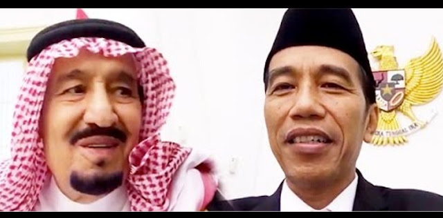 "Lagi Viral: Sambil Makan Siang, Jokowi ""Nge-Vlog"" Bareng Raja Salman"