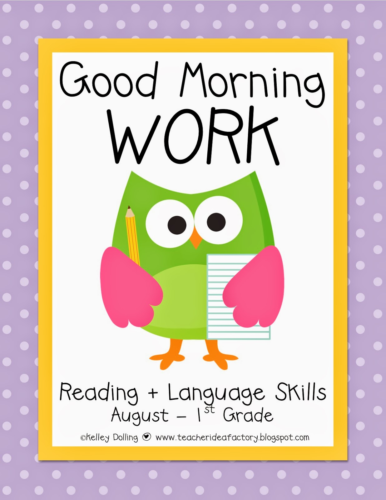 Teacher Idea Factory Back To School Morning Work 1st 3rd