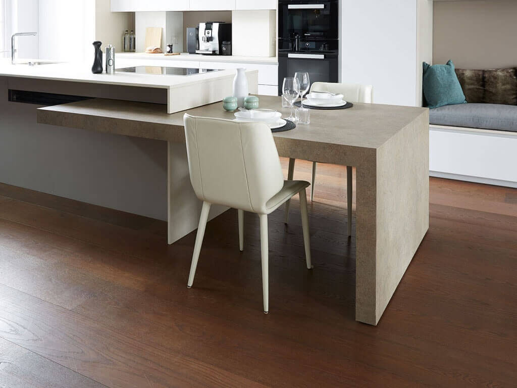 5 soluciones de islas de cocina con mesa para comer for Mesa barra cocina