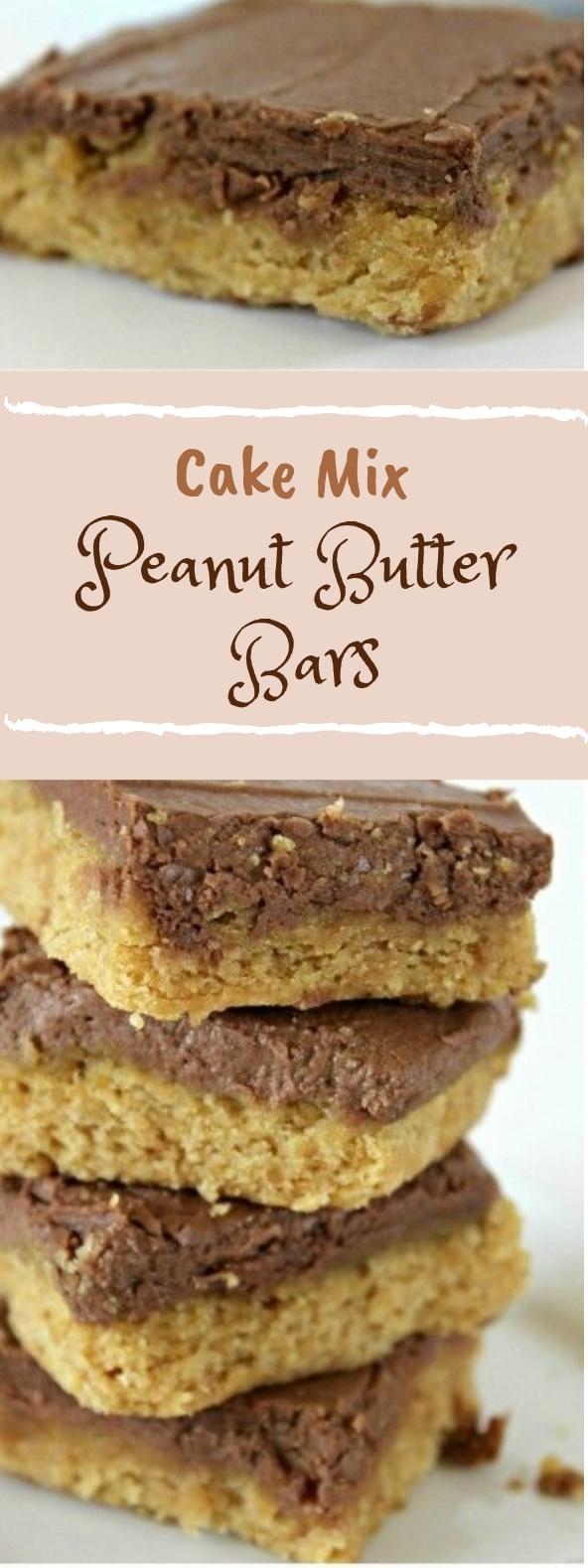 CAKE MIX PEANUT BUTTER BARS #cake #peanutbutter