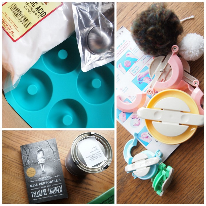 We're making bath bombs and pom-poms, painting, and reading! What are you doing?