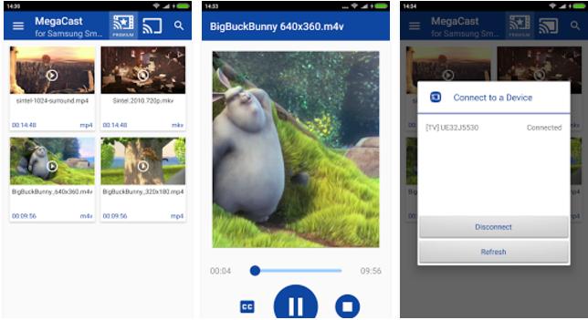 MegaCast Samsung Smart TV Mobile app - Youth Apps - Best