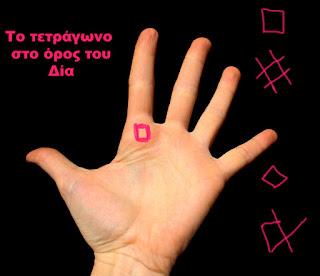 τετραγωνο χειρομαντια