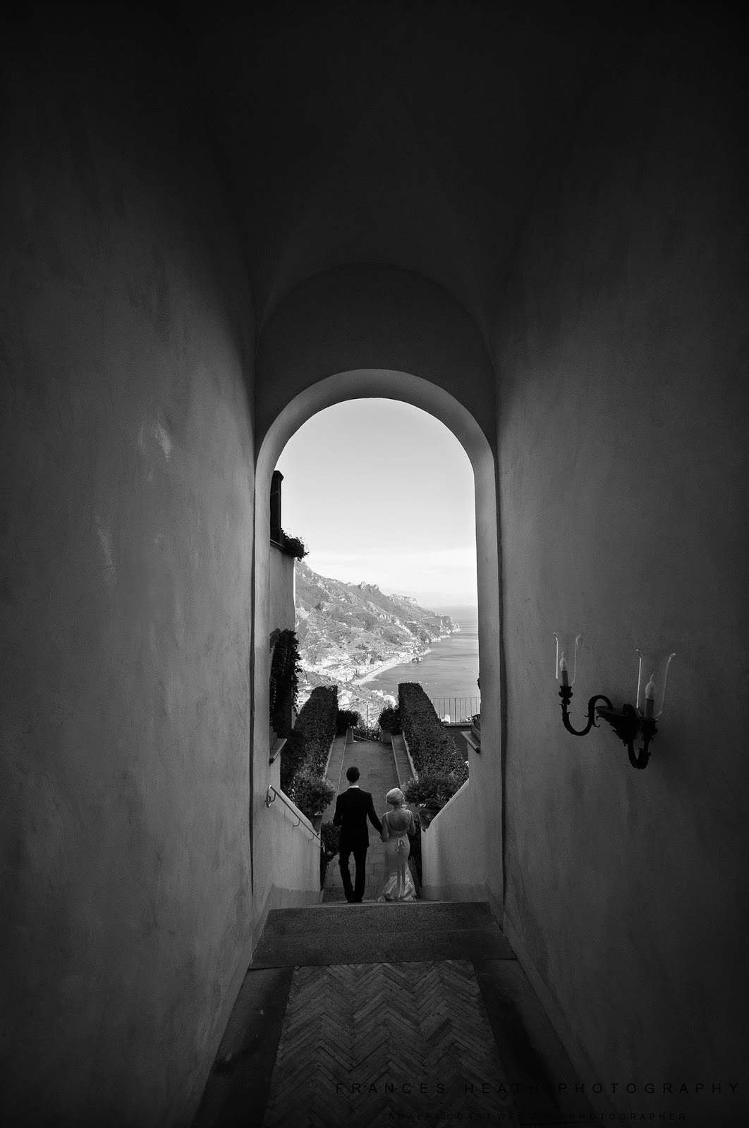 Romantic wedding at Hotel Caruso in Ravello Italy