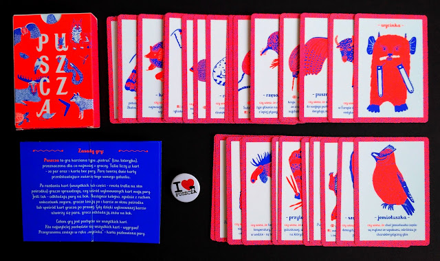 W pudełku znajduje się instrukcja oraz 41 kart