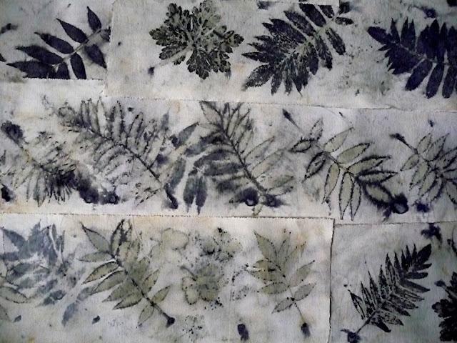 nanouanne empreintes de feuilles avec sulfate de fer 1 suite. Black Bedroom Furniture Sets. Home Design Ideas